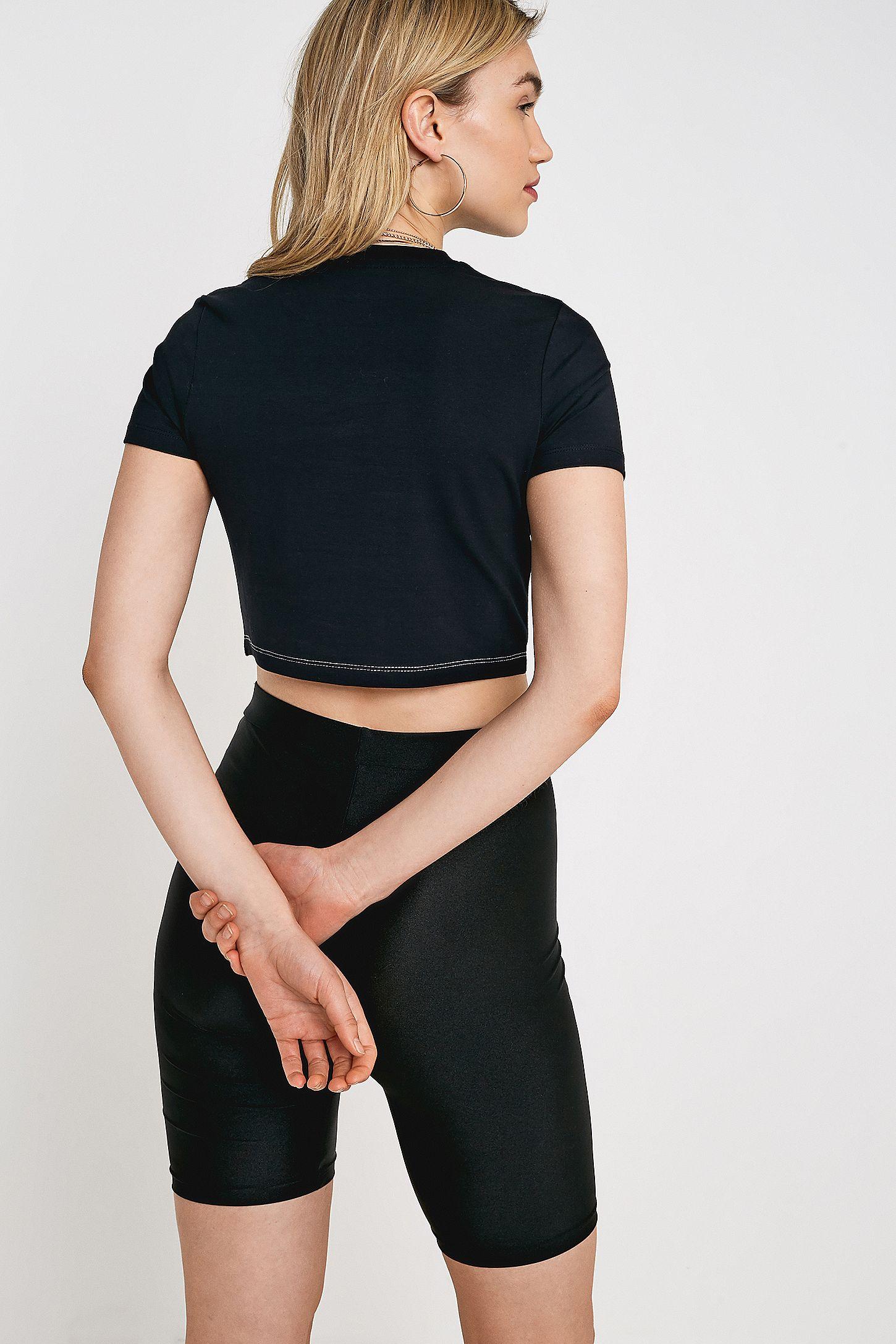 81907205c49b05 FILA Keyhole Crop T-Shirt | Urban Outfitters UK