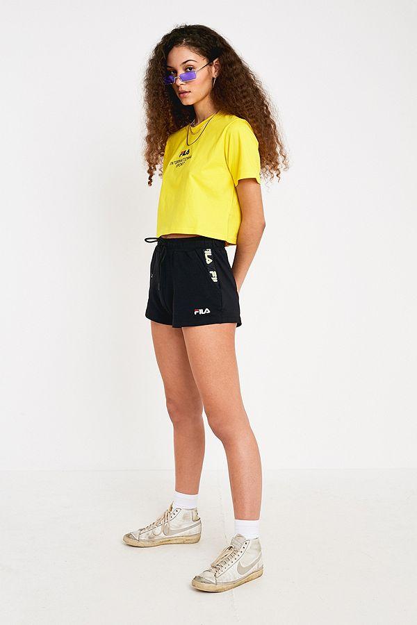 ret godt god kvalitet på fødderne kl FILA Latana Logo Tape Towelling Shorts