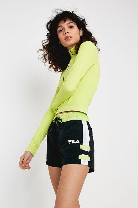 b325db1e04fa9 FILA Payne Black Nylon Shorts