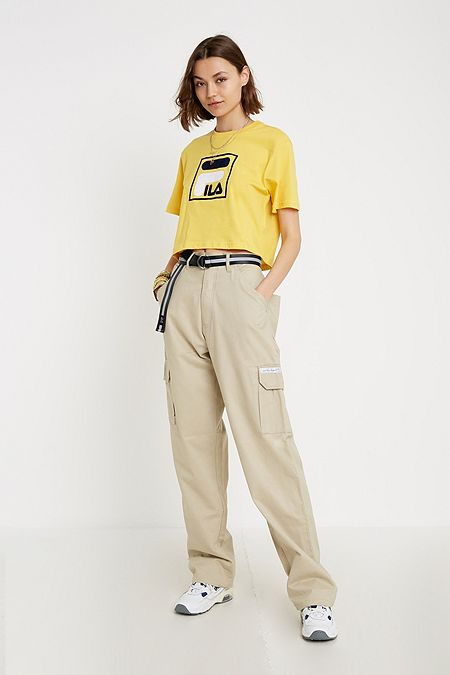 5ff7d3e2c2 FILA Sarah Box Logo Yellow T-Shirt