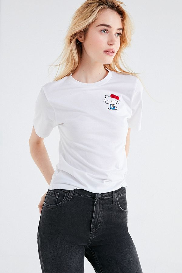 db14ca74e FILA X Sanrio For UO Hello Kitty T-Shirt | Urban Outfitters UK