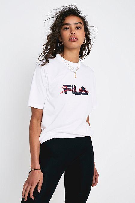 e72f2b8a54e8 FILA Jazmin 3D Rubber Script Logo T-Shirt