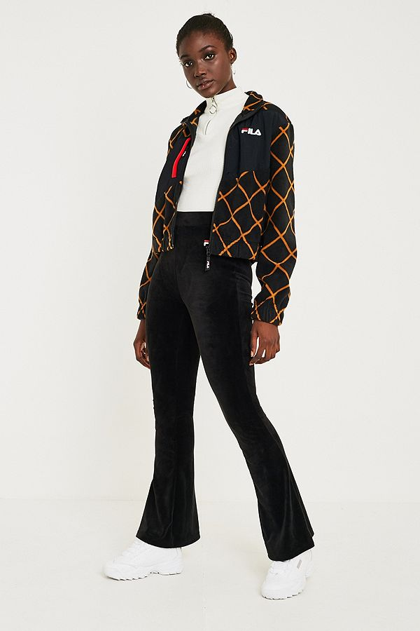 a62d9d7ee413 FILA Tonia Velour Flare Track Pants | Urban Outfitters UK
