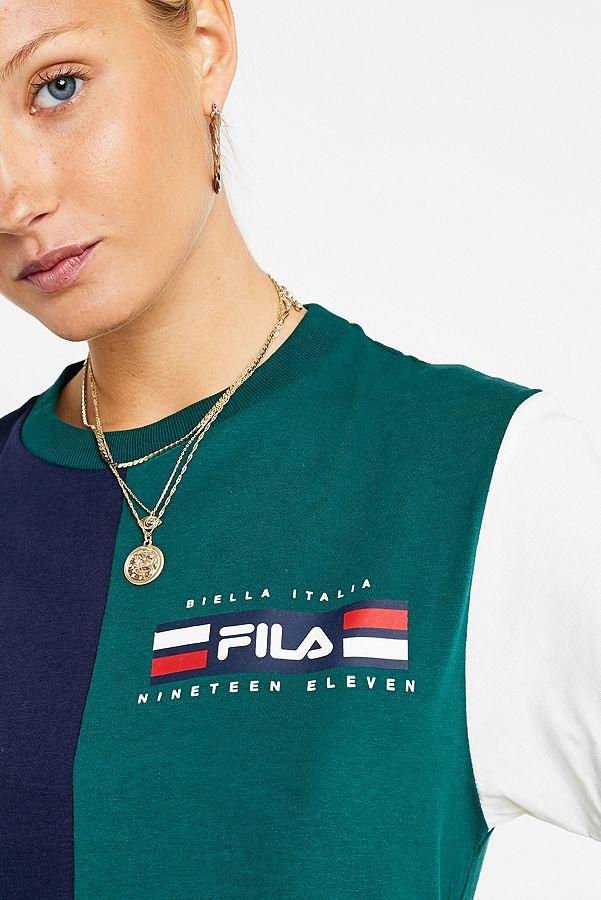 FILA T shirt Mona motif color block