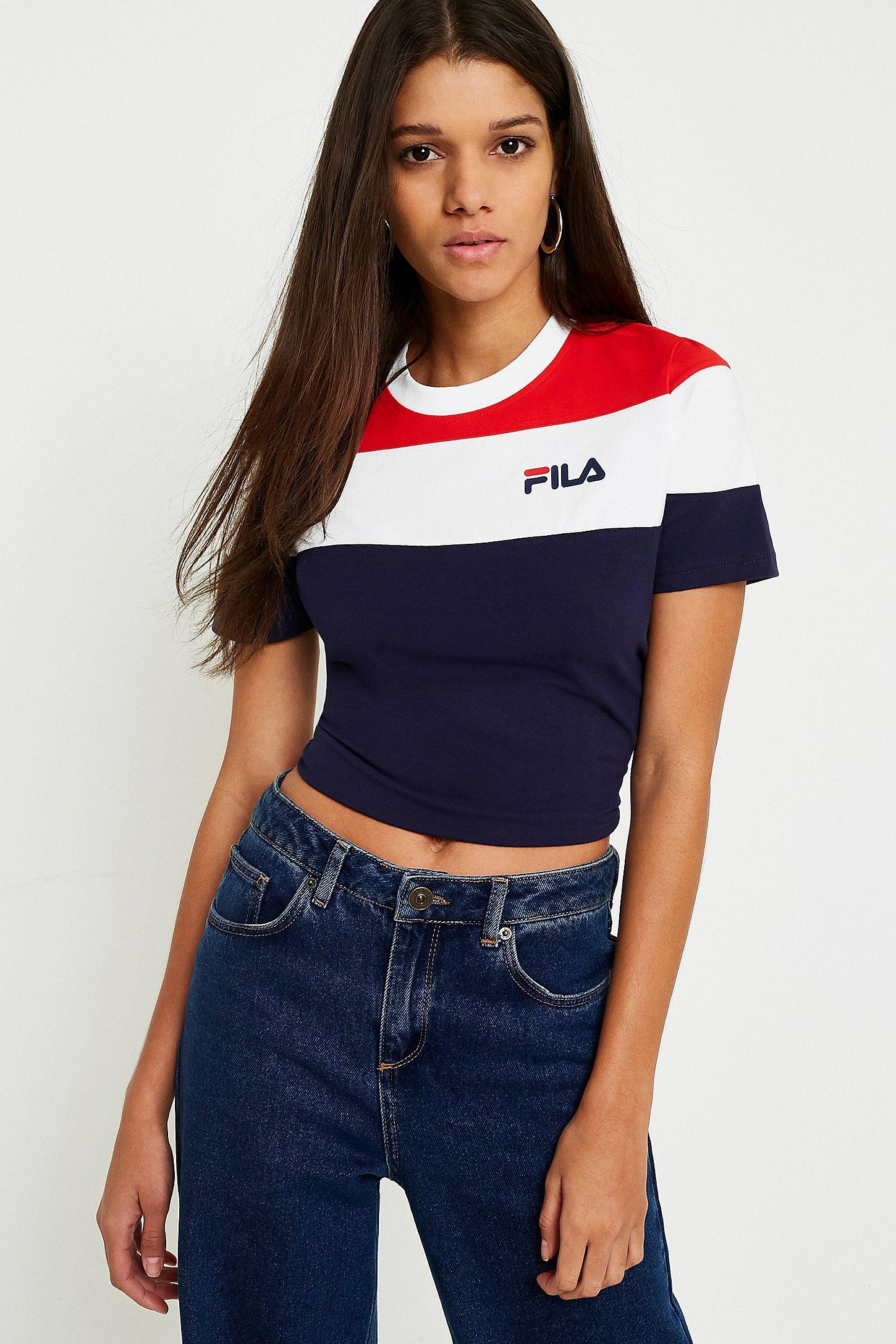 3ac6688af4d FILA Maya Colour-Blocked Cropped Logo T-Shirt