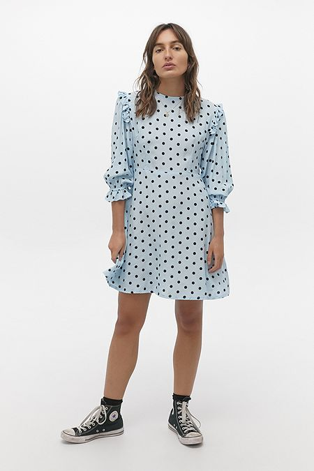 Faithfull The Brand Edwina Dotted Mini Dress
