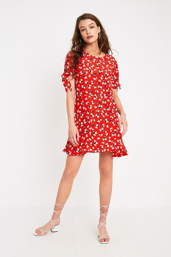 419bf777b5e6 Faithfull The Brand Daphne Red Floral Mini Dress | Urban Outfitters UK