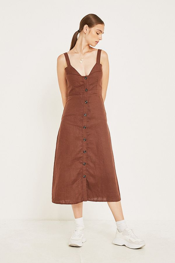 super cute huge selection of 100% high quality Faithfull The Brand La Ville Button-Through Midi Dress | Urban ...