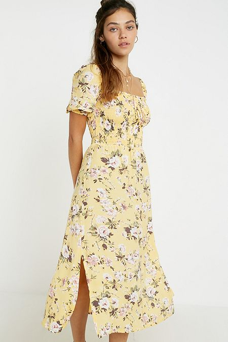 fbd098d95 Faithfull The Brand Majorelle White Floral Midi Dress