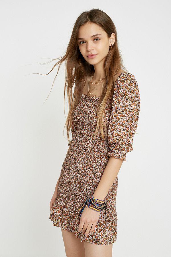 f00771e5bdae Faithfull The Brand Es Saada Floral Mini Dress | Urban Outfitters UK