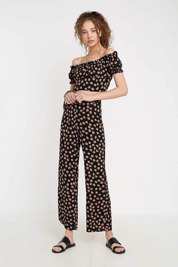 2d3cb196c6 Dot & X Floral Wide Leg Trousers   Urban Outfitters UK