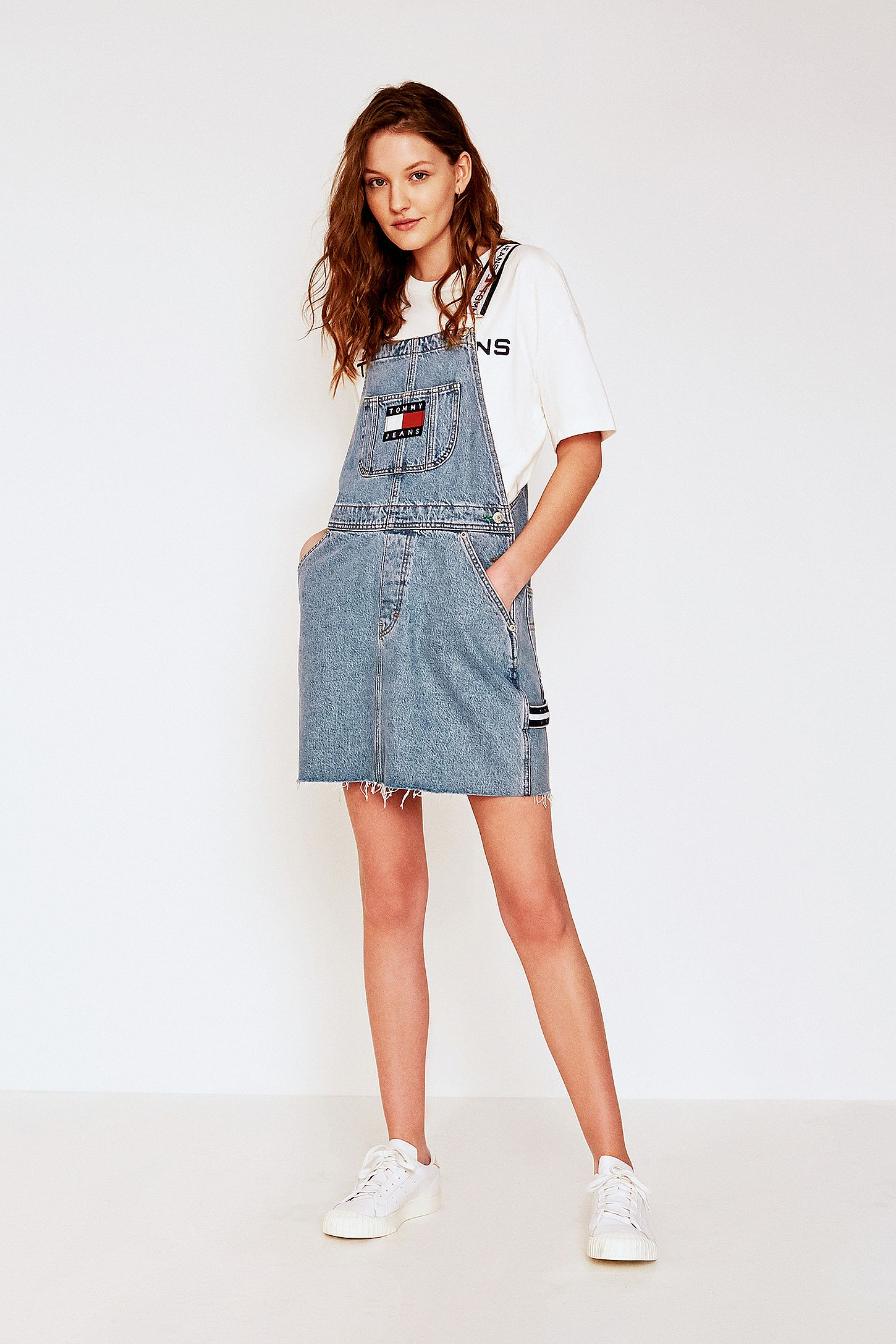 284eb06f161 Tommy Jeans Denim Dungarees Dress