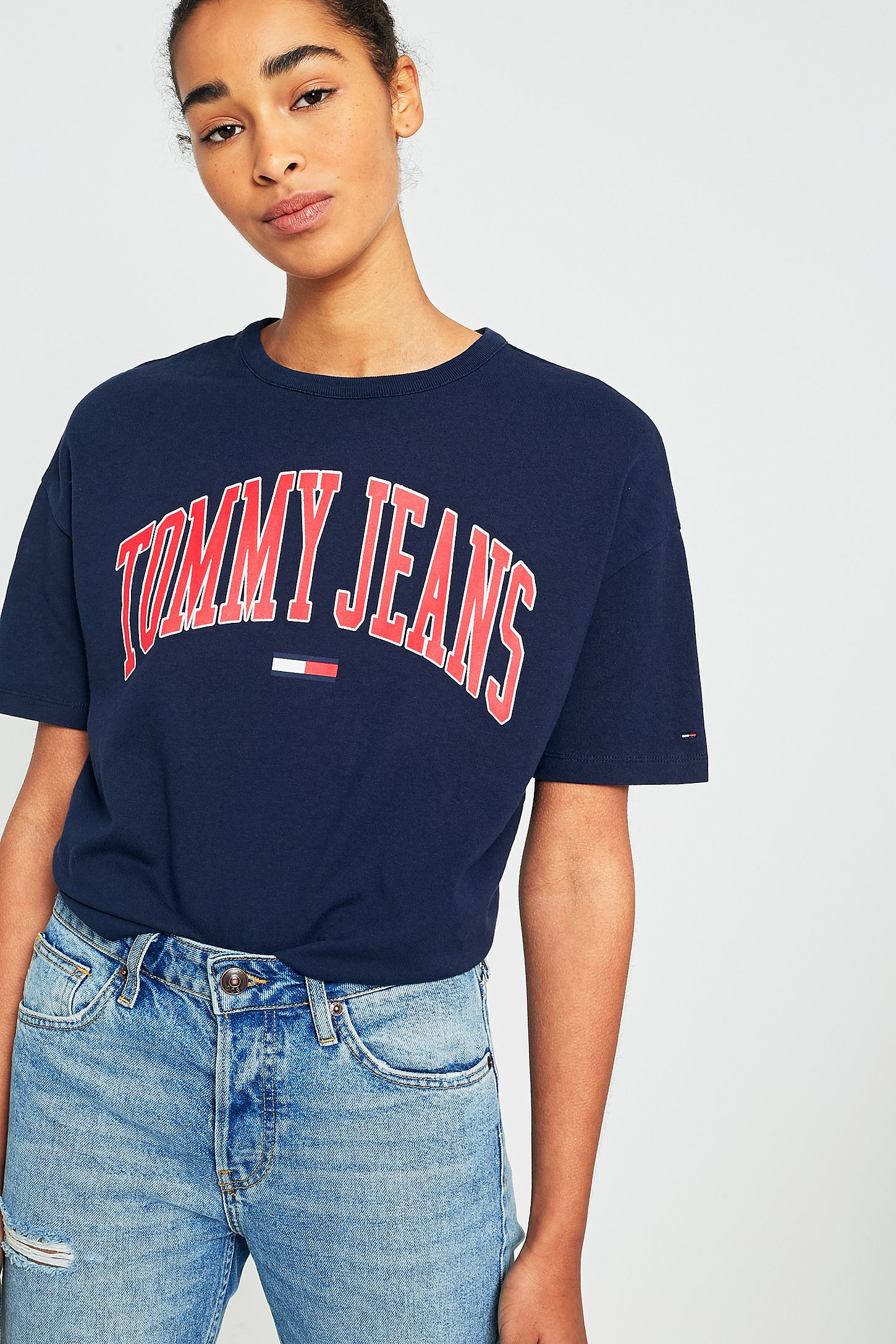 8ac9dbd813ab Tommy Jeans Collegiate Navy Logo T-Shirt