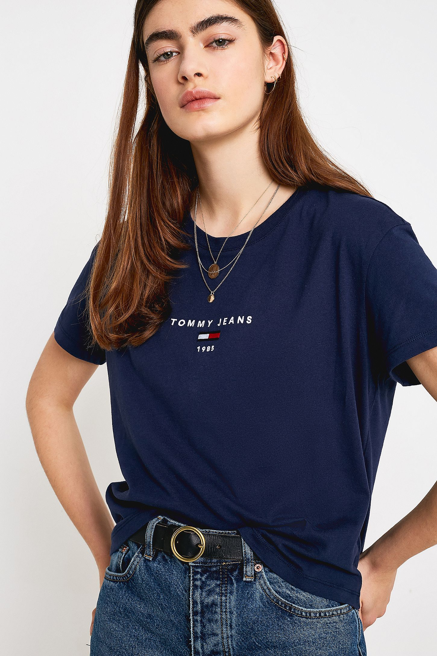 9a621b3a Tommy Jeans Corp Logo T-Shirt | Urban Outfitters UK
