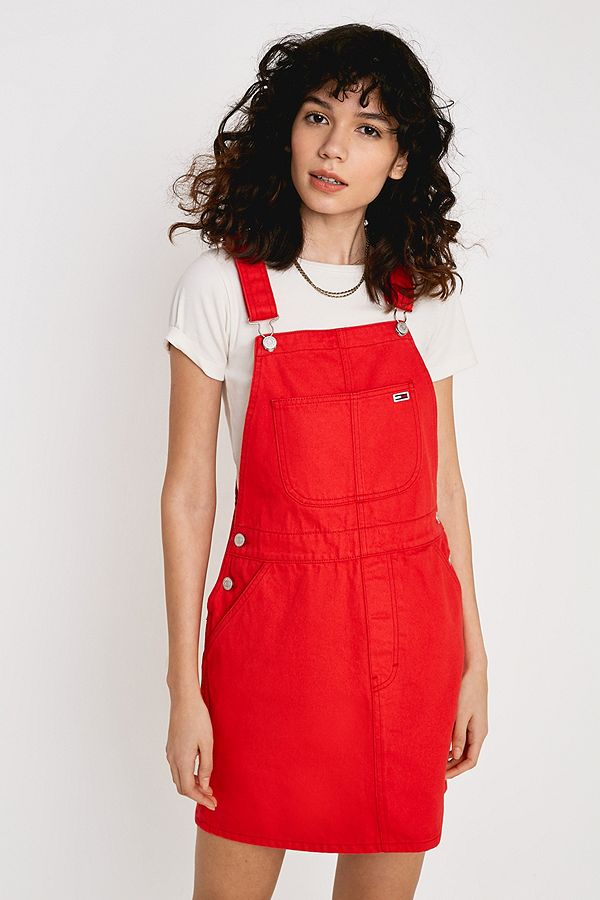 7d97b2bd7ee Slide View  1  Tommy Jeans Classic Dungarees Dress
