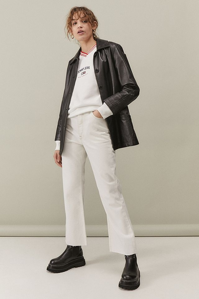 Tommy Hilfiger Harper White High-Rise Flare Jeans