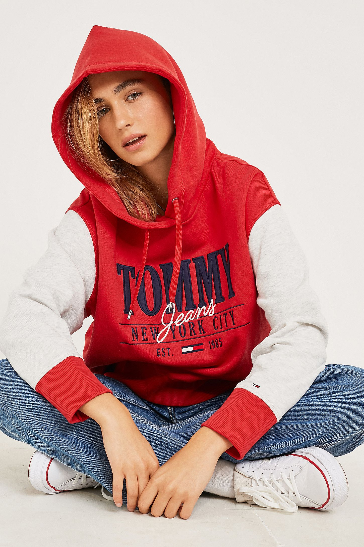 0206bec4 Tommy Jeans Cropped Logo Hoodie. Click on image to zoom. Hover to zoom.  Double Tap to Zoom