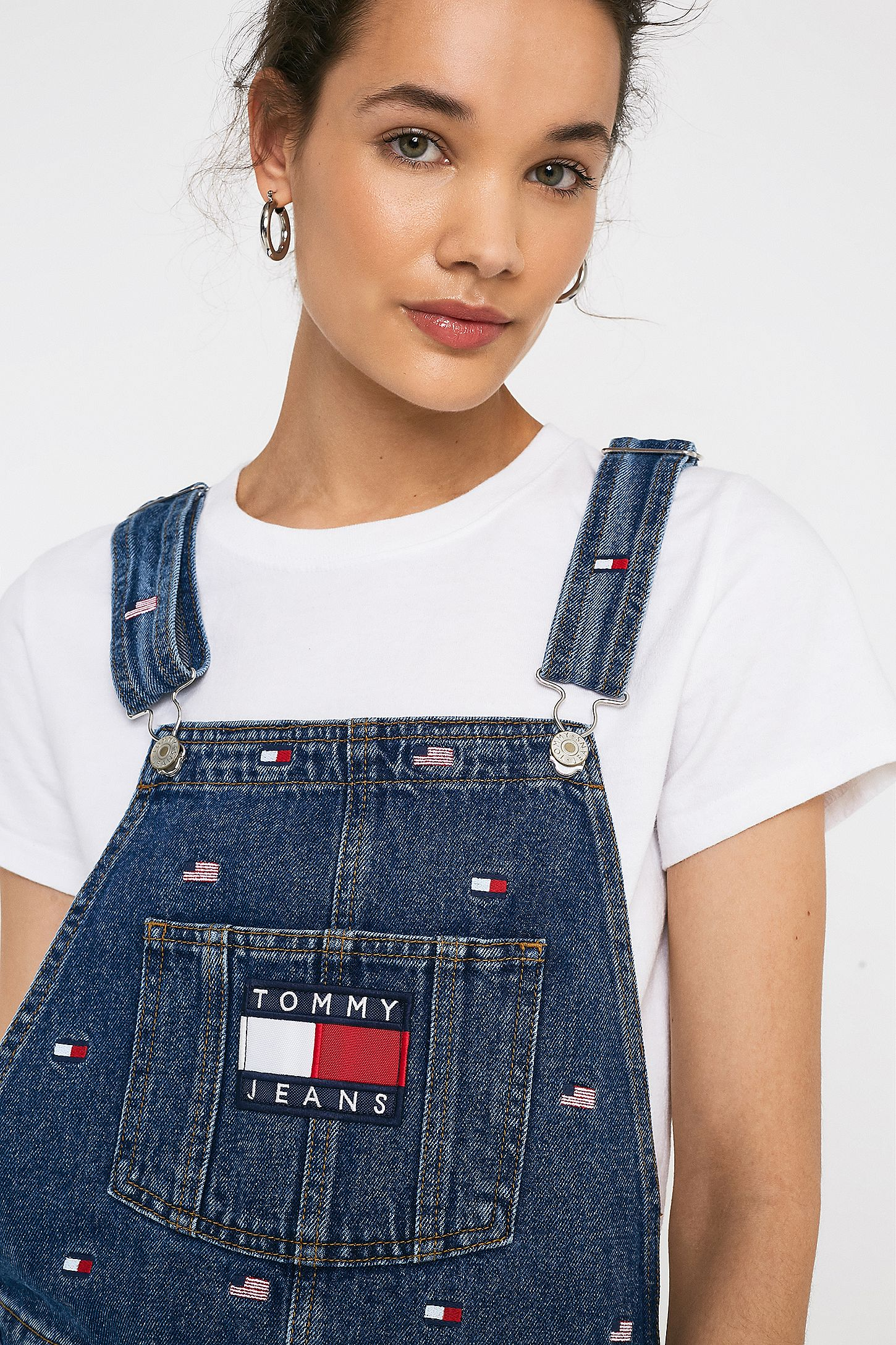 6a1ca89d60 Slide View  4  Tommy Jeans Flag Pattern Pinafore Dress