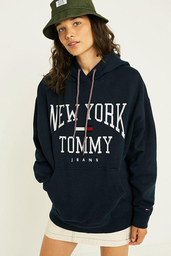 94524eda8602 Tommy Jeans Logo Boyfriend Hoodie | Urban Outfitters UK