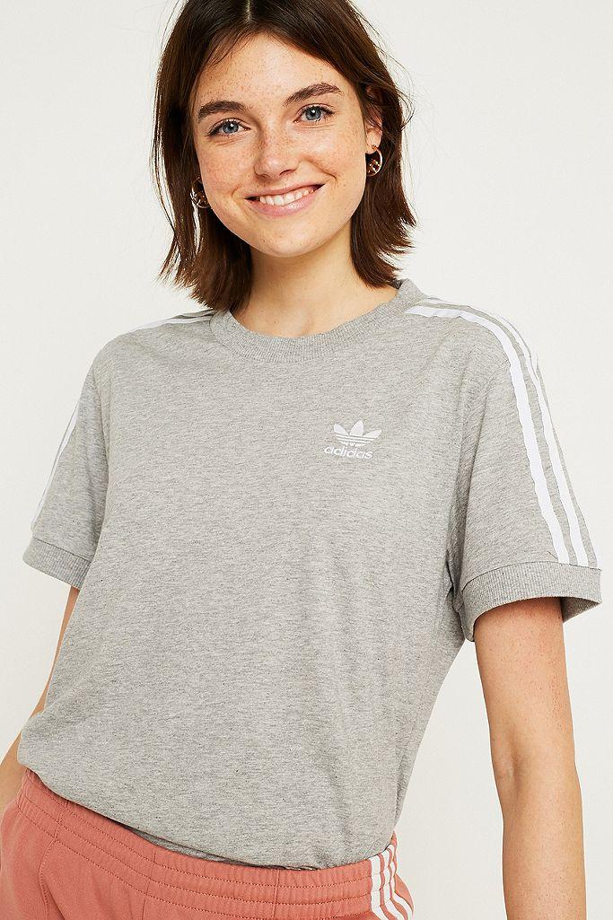 adidas Originals Grey 3-Stripe T-Shirt