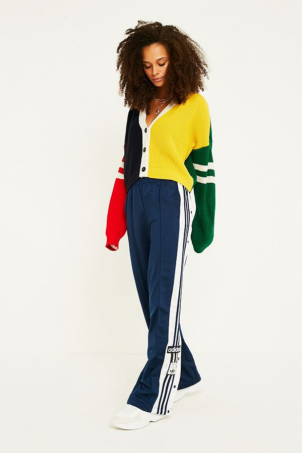 e01b35fa1be0 adidas Originals Adibreak 3-Stripe Navy Taping Popper Track Pants ...