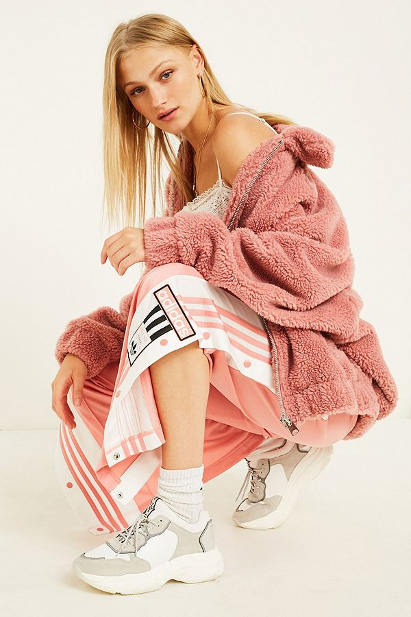 adidas Originals Adibreak 3 Stripe Rose Taping Popper Track Pants