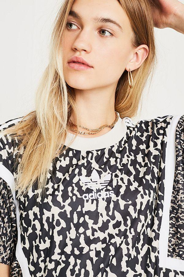 8853f8ede8d5f9 adidas Originals Leopard Print Boyfriend T-Shirt