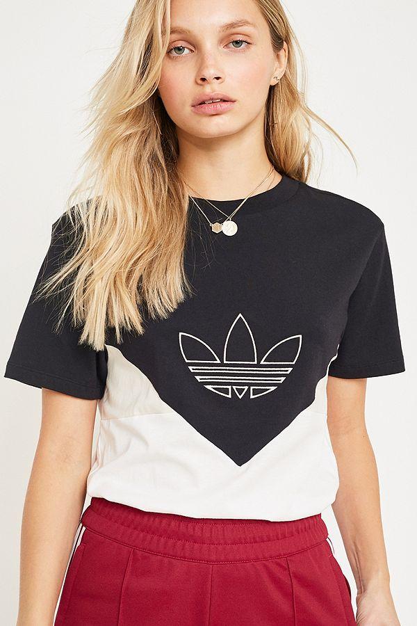 88370020e97 adidas Originals CLRDO Black + White T-Shirt | Urban Outfitters UK
