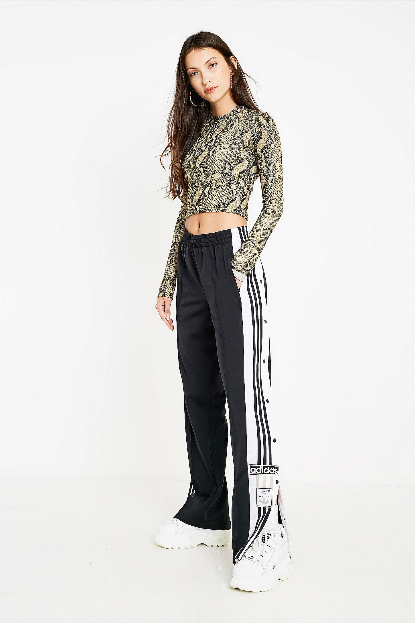 adidas popper pants womens