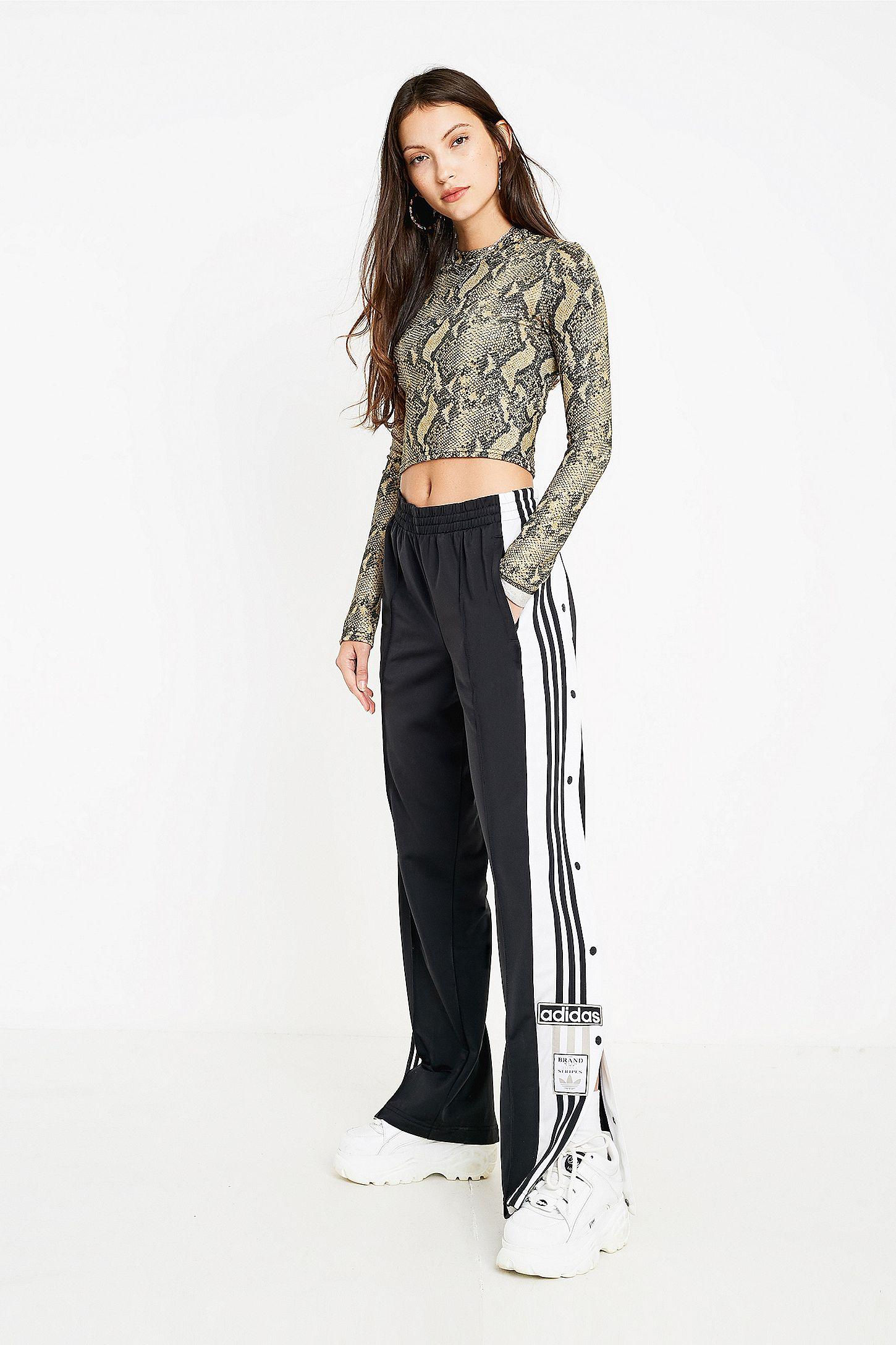1ce1011a88 adidas Originals Adibreak 3-Stripe Black Taping Popper Track Pants