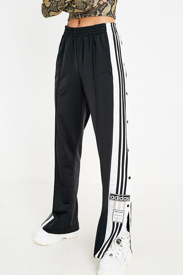 6c2597dea41a Slide View  3  adidas Originals Adibreak 3-Stripe Black Taping Popper Track  Pants