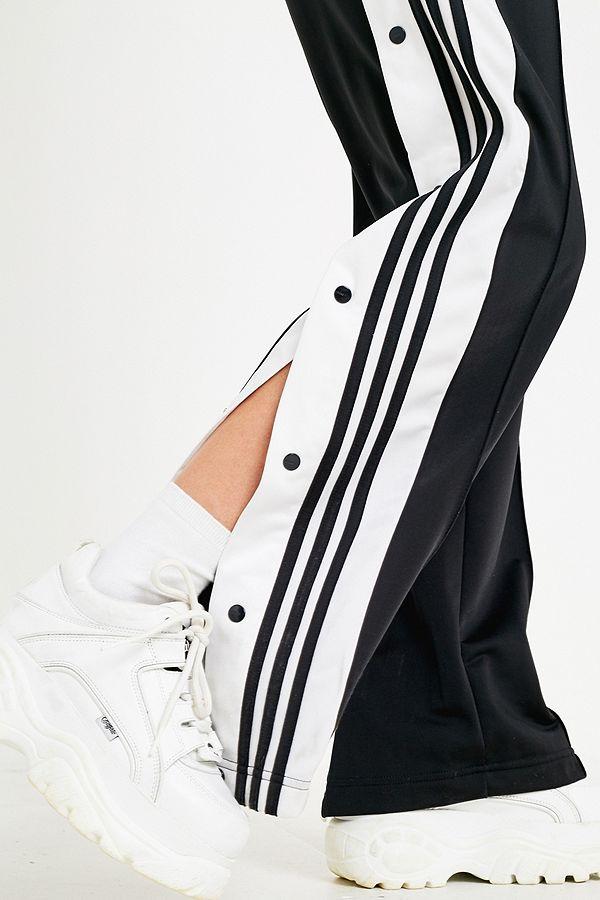 d8d6e3f09272 Slide View  4  adidas Originals Adibreak 3-Stripe Black Taping Popper Track  Pants