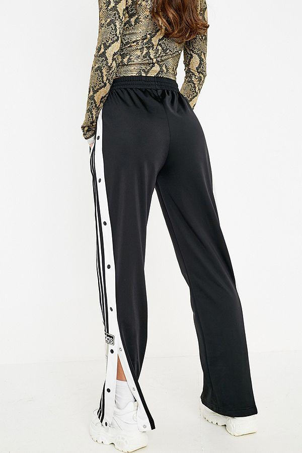 4ba389510f43 Slide View  5  adidas Originals Adibreak 3-Stripe Black Taping Popper Track  Pants