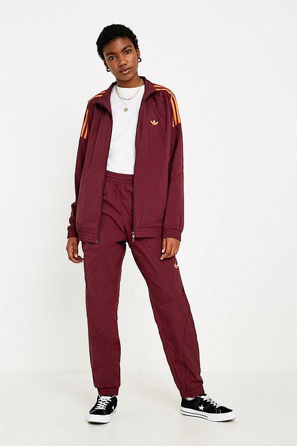 "fashion style superior quality arrives adidas Originals – Trainingsjacke ""Flamestrike"" in Weinrot"