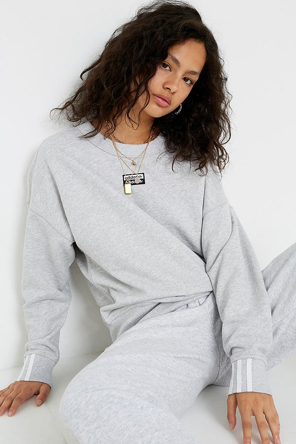 adidas Originals Vocal Light Grey Crew Neck Sweatshirt