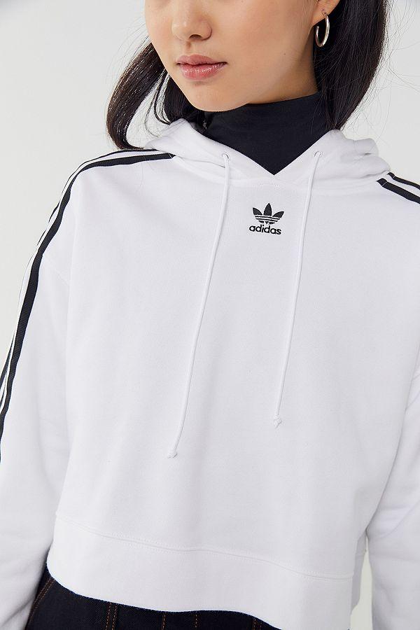 """adidas Originals – Gekürzter Hoodie """"Adicolor"""" mit 3 Streifen Styling"""