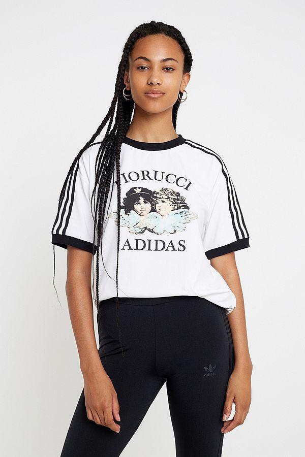 adidas Originals By Fiorucci - 3 Streifen T Shirt  Schlussverkauf
