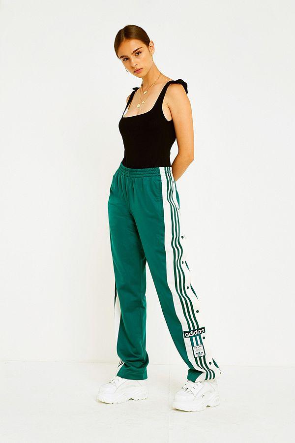 adidas Originals Adibreak 3 Stripe Green Popper Track Pants