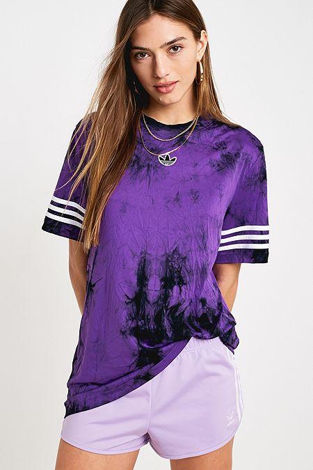591e24e4d60f adidas Originals Purple Space Dye T-Shirt