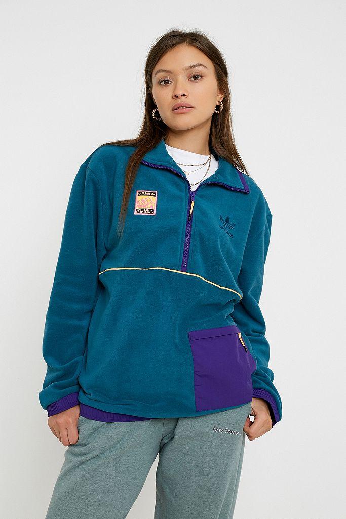 Injusto Arruinado riesgo  adidas Originals - Veste polaire à enfiler, col zippé   Urban Outfitters FR