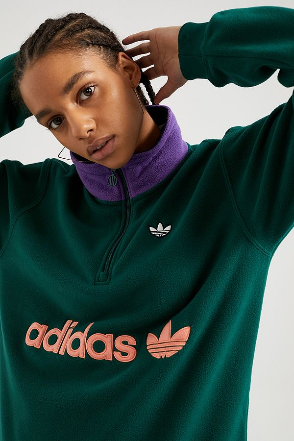 adidas Originals Colourblock Half Zip Sweatshirt