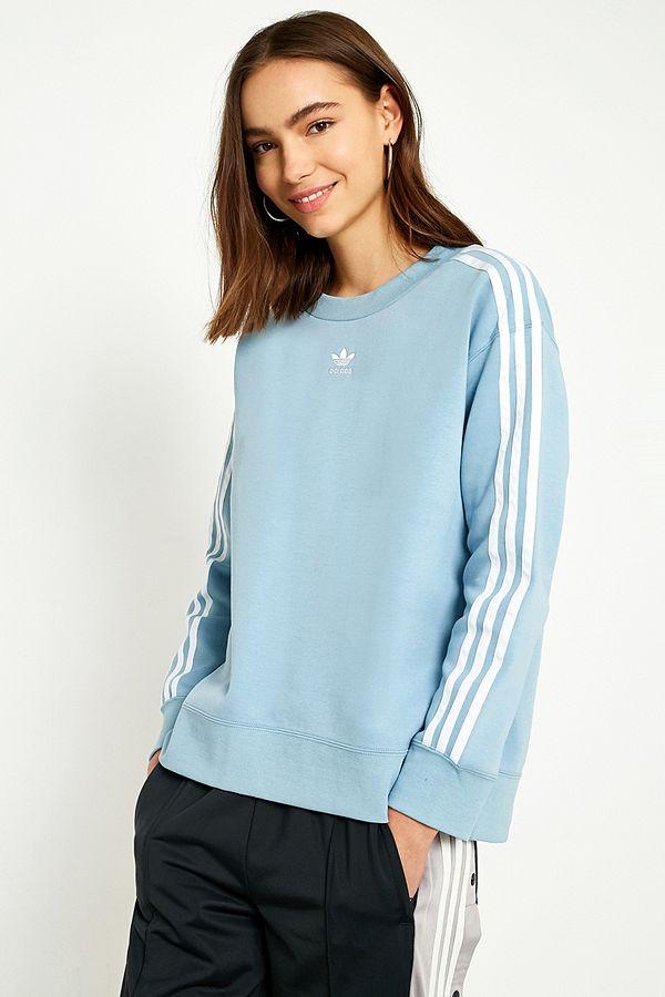 5a88f447c0 adidas Originals Blue 3-Stripe Jumper