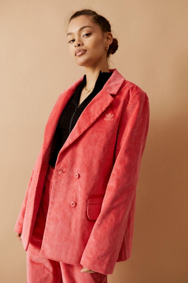 adidas Originals Pink Corduroy Blazer UO sale