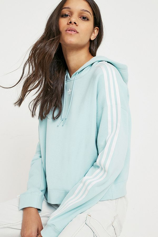 e7921f4c195291 adidas Originals Adicolor Mint Crop Hoodie | Urban Outfitters UK