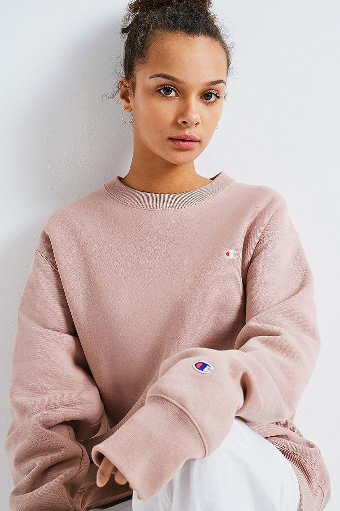 Champion X UO Blush Reverse Weave Crew Neck Sweatshirt