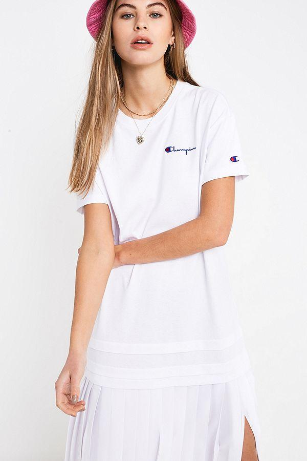 brand new 2497c af73d Champion Logo Script Maxi T-Shirt Dress