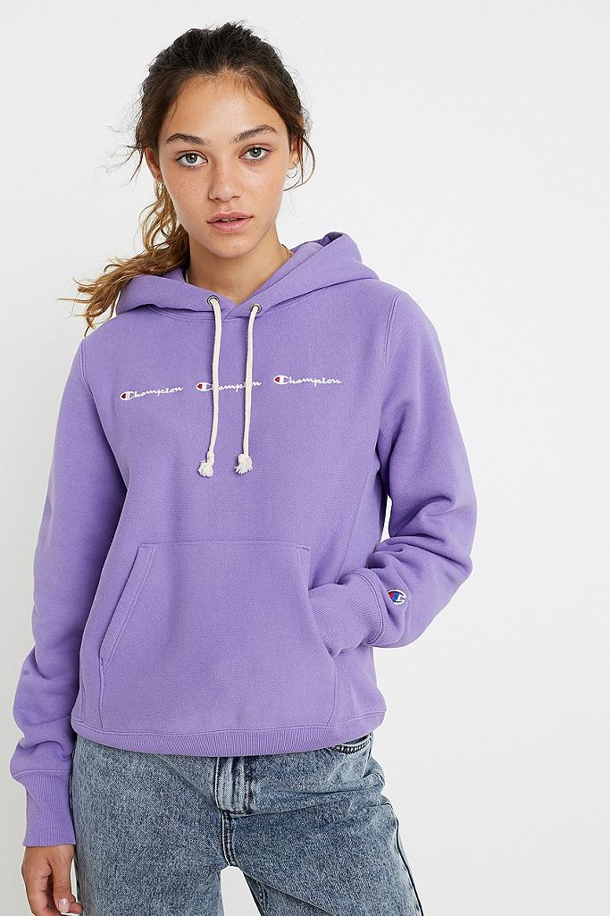 Champion UO Exclusive – Hoodie in Lila mit Logodesign