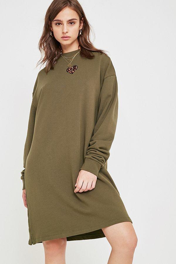 4972fe74f8 Lazy Oaf Leopard Heart Jumper Dress