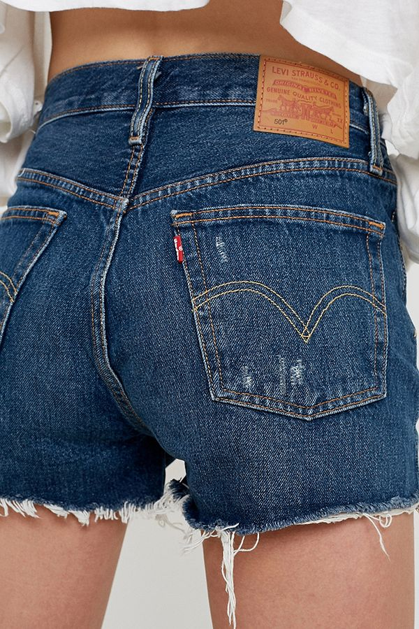 e8f9f7fda076 Levi's 501 Silver Lake High-Rise Denim Shorts | Urban Outfitters UK