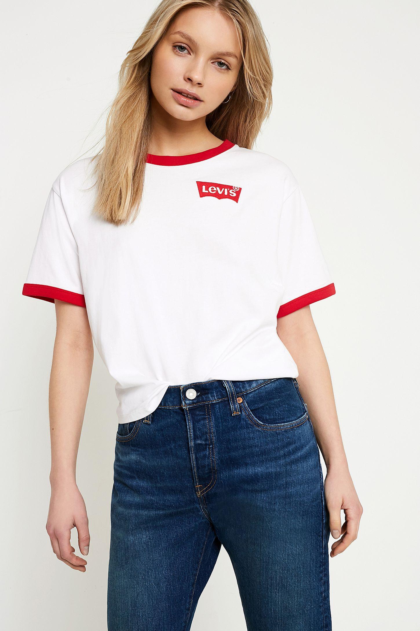 fbaf20fddd69f3 Levi's White JV Ringer T-Shirt | Urban Outfitters UK